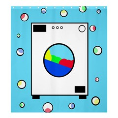 Washing machine  Shower Curtain 66  x 72  (Large)