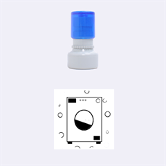 Washing machine  Rubber Round Stamps (Small)