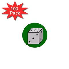 Dice  1  Mini Buttons (100 pack)