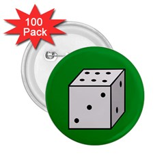 Dice  2.25  Buttons (100 pack)