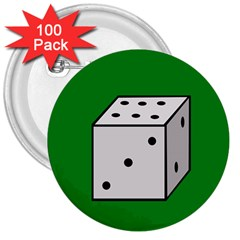 Dice  3  Buttons (100 Pack)
