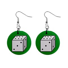 Dice  Mini Button Earrings