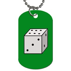 Dice  Dog Tag (One Side)