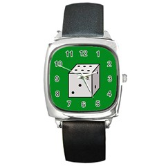 Dice  Square Metal Watch