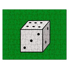Dice  Rectangular Jigsaw Puzzl