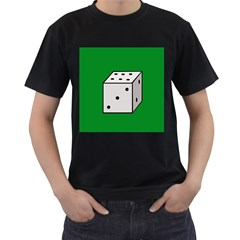 Dice  Men s T-Shirt (Black) (Two Sided)