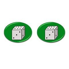 Dice  Cufflinks (oval)