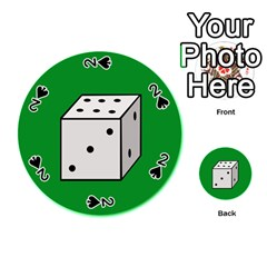 Dice  Playing Cards 54 (Round)