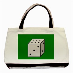 Dice  Basic Tote Bag (Two Sides)