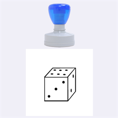 Dice  Rubber Round Stamps (Large)