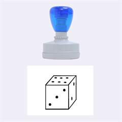 Dice  Rubber Oval Stamps