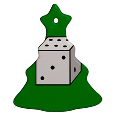 Dice  Christmas Tree Ornament (2 Sides)
