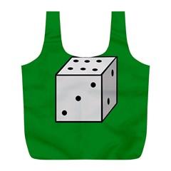 Dice  Full Print Recycle Bags (L)