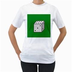 Dice  Women s T-Shirt (White)
