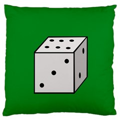 Dice  Large Flano Cushion Case (Two Sides)