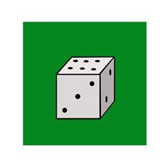 Dice  Small Satin Scarf (Square)