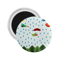 Birds in the rain 2.25  Magnets