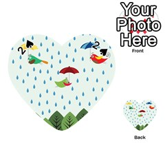 Birds in the rain Playing Cards 54 (Heart)