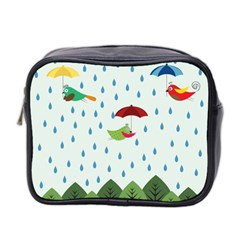Birds in the rain Mini Toiletries Bag 2-Side