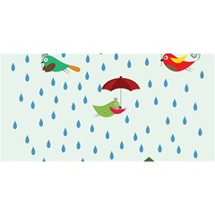 Birds in the rain YOU ARE INVITED 3D Greeting Card (8x4)