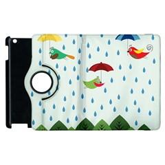 Birds in the rain Apple iPad 3/4 Flip 360 Case