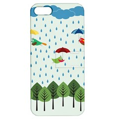 Birds In The Rain Apple Iphone 5 Hardshell Case With Stand