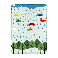 Birds in the rain Samsung Galaxy Note 10.1 (P600) Hardshell Case