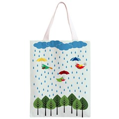 Birds in the rain Classic Light Tote Bag