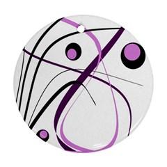 Pink elegant design Ornament (Round)