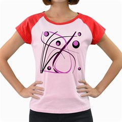 Pink Elegant Design Women s Cap Sleeve T Shirt