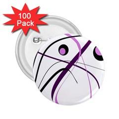 Pink elegant design 2.25  Buttons (100 pack)