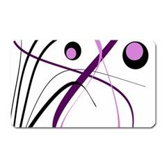 Pink elegant design Magnet (Rectangular)
