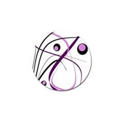 Pink Elegant Design Golf Ball Marker (10 Pack)