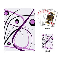 Pink elegant design Playing Card