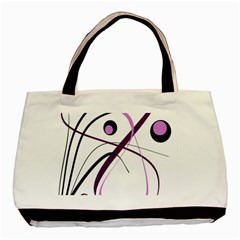 Pink Elegant Design Basic Tote Bag (two Sides)