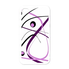 Pink elegant design Apple iPhone 4 Case (White)