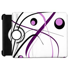Pink elegant design Kindle Fire HD Flip 360 Case