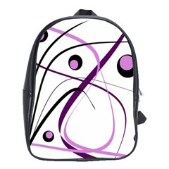 Pink Elegant Design School Bags (xl)