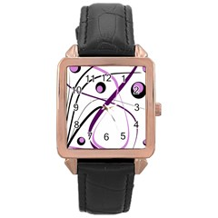 Pink elegant design Rose Gold Leather Watch