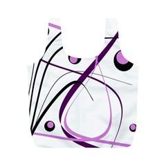 Pink elegant design Full Print Recycle Bags (M)