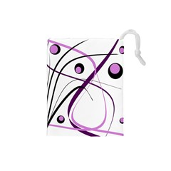 Pink elegant design Drawstring Pouches (Small)