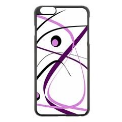 Pink elegant design Apple iPhone 6 Plus/6S Plus Black Enamel Case