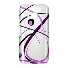 Pink elegant design HTC One M9 Hardshell Case