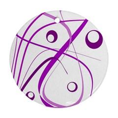 Purple elegant design Ornament (Round)