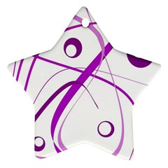 Purple elegant design Ornament (Star)