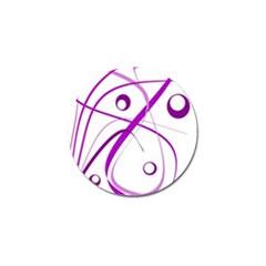 Purple elegant design Golf Ball Marker (10 pack)