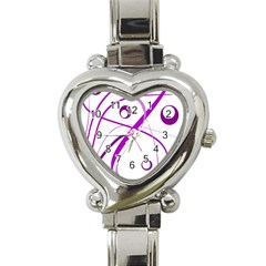 Purple elegant design Heart Italian Charm Watch