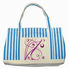 Purple elegant design Striped Blue Tote Bag