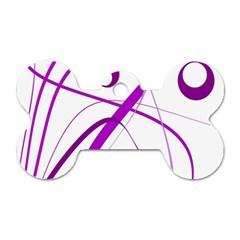 Purple elegant design Dog Tag Bone (One Side)