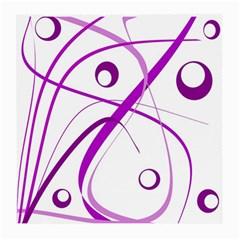 Purple elegant design Medium Glasses Cloth (2-Side)